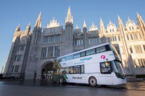 World's first hydrogen double deckers start their routes in Aberdeen